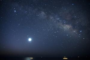 明けの明星と天の川