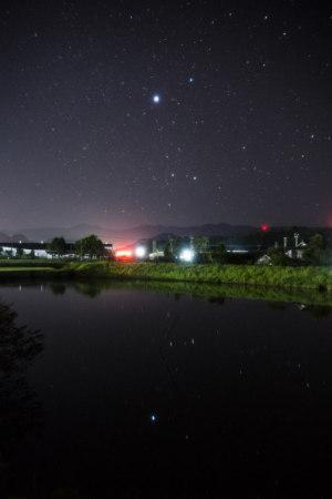 ため池に星を映して