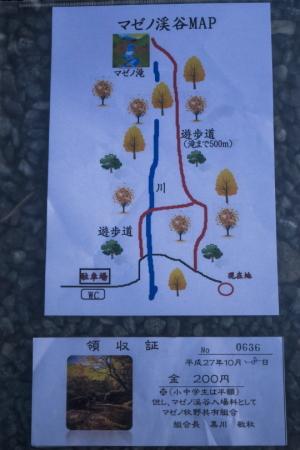 渓谷マップと領収書