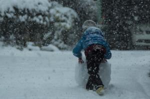 雪だるまを。。。