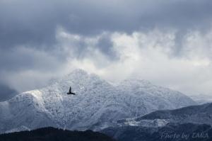 冠雪の九州山脈